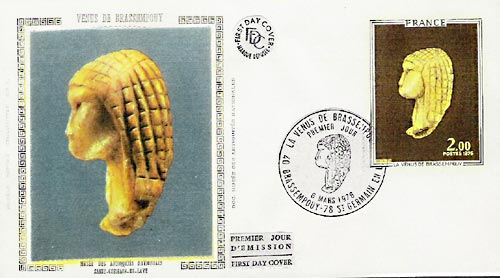 First Day cover for Dame (Venus) de Brassempouy issue.